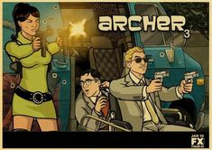 Archer Tv Show, Archer Fx, Spy Shows, Sci Fi Shows, Archer Funny, Sterling Archer, Action Film, Cool Animations, Sexy Cartoons