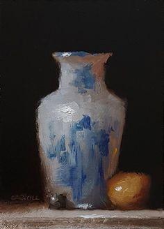 Neil Carroll Original Oil Painting Realism Impressionism Still Life Vase