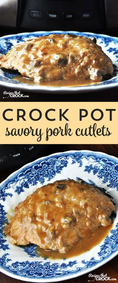 These Crock Pot Savory Pork Cutlets are not only savory, they are tender and SO easy!