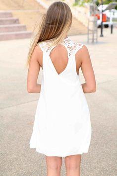 d5a0053cd Encuentra Vestido Blanco Suelto Sin Mangas Mujer W - Ropa