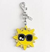 Coach Yellow Sun Key Fob