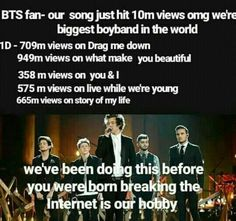 Respond if u think one direction should not be compared with bts. One Direction Jokes, One Direction Imagines, 1d Imagines, One Direction Pictures, I Love One Direction, Direction Quotes, Zayn Malik, Niall Horan, While We're Young