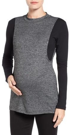 13fb43c0d9b LAB40  Brie  Colorblock Maternity Nursing Sweater