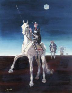 Don Quijote(1961) - Oil on Canvas - Candido Portinari.