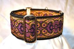 Martingale Collar Purple and Gold Jacquard by TheHoundHaberdashery, $24.95 - FOR THE DOG!