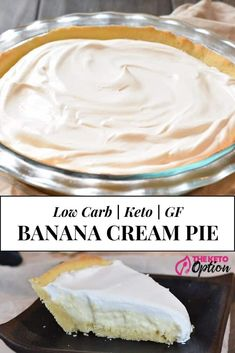 Lower Excess Fat Rooster Recipes That Basically Prime Keto Banana Cream Pie Enjoy This Delicious Low Carb Banana Cream Pie That Does Not Use Bananas, But You'd Never Know Easy Keto Pie Easy Low Carb Dessert Visit Keto Friendly Desserts, Low Carb Desserts, Low Carb Recipes, Dessert Recipes, Easy Keto Dessert, Cupcake Recipes, Cookie Recipes, Low Carb Banana Cream Pie, Banana Pie