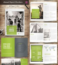 Annual Report InDesign Brochure Template Design