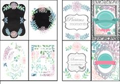 free printable pour planner-organiseur - Cultura
