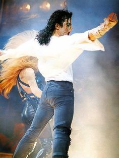 Michael Jackson (her hair looks like his angel wings)