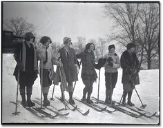 1925 vintage skiing pic, those ladies rock the gear better than i do!