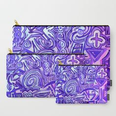 Violet Symbols Carry-All Pouch