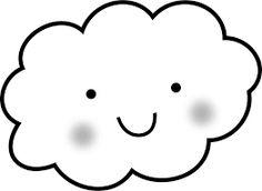 Resultado de imagem para molde nuvem para imprimir