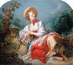 The Athenaeum - The Gardening Girl (Jean-Honore Fragonard - )