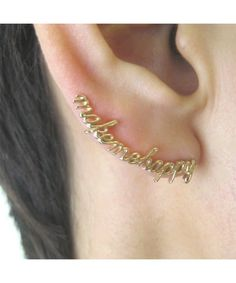 Make Me Happy Earrings. If someone can find where to buy these, I'll give you 10,00 awesome points!!