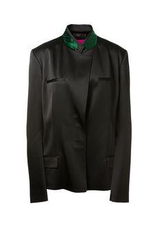 HAIDER ACKERMANN Haider Ackermann Black Satin Jacket. #haiderackermann #cloth #