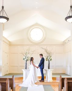 Simple and elegant church wedding decor for indoor ceremony at Hawthorne House photographed by Sarah Rieth Photography near Kansas City Hawthorne House, Church Wedding Decorations, Indoor Ceremony, Chapel Wedding, Kansas City, Elegant, Wedding Dresses, Simple, Photography