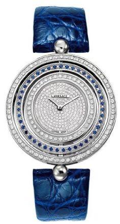 Versace Women's 80Q941D497 S115 Eon Mother-of-Pearl Dial Reversible Diamond Bezels Blue Alligator Leather Watch Versace,http://www.amazon.com/dp/B007V4Z5VM/ref=cm_sw_r_pi_dp_fyLyrbFC459F4983