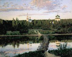 Isaac Levitan (1860-1900), Le Monastère Silencieux - 1890
