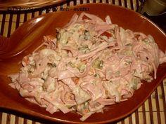 Recept Salát z měkkého salámu - Naše Dobroty na každý den