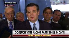 """For those of us who value and cherish the Constitution and Bill of Rights, today is one step closer to Judge Neil Gorsuch being confirmed as the next associate justice on the Supreme Court.""   Ted Cruz reacted to the Senate Judiciary Committee's vote along party lines to endorse Judge Neil Gorsuch for the Supreme Court, saying it was a ""victory for the rule of law."" Do you agree? http://fxn.ws/2ouycIs"
