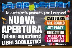 """Stampa 3x2m Parole Pensieri Cartolerie Nuova Apertura #Crotone (Crotone, Italy) #manifesto #grafica"""""""