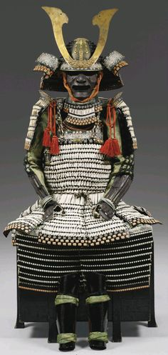 White-laced suit of armor with a hara-maki do. Edo period (18th century) Haramaki refers to any Japanese armour which is put on from the front and then fastened in the back with cords.
