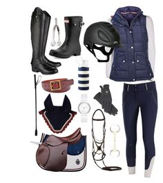 Jenna by hall-ash on Polyvore featuring polyvore, fashion, style, Barbour, Ariat, Hunter, DKNY, FOSSIL, Kate Spade and clothing