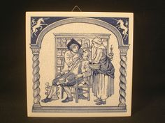 Burroughs Wellcome Co Pharmacists Diagnosing Ailment Pill Tile Delft Holland LE
