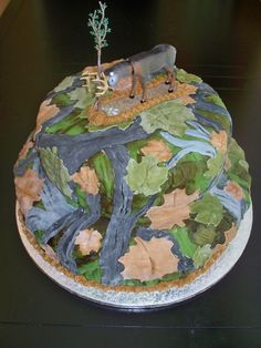Camouflage Cake idea for my son's birthday