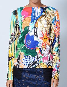 Tsumori Chisato tree world wool blouse