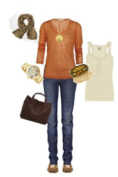Orange Sweater by jillgaither on Polyvore featuring polyvore, fashion, style, Vanessa Bruno, dVb Victoria Beckham, Kate Spade, Jil Sander, Freelook, BKE, Kenneth Jay Lane, Ben-Amun, Tory Burch, Juicy Couture and clothing