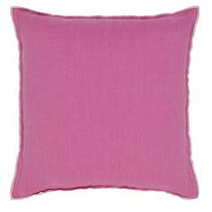 Brera Lino Pale Rose Cushion | Designers Guild
