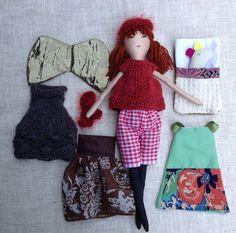 Modern cloth doll Doll with clothes Handmade fabric от Dollisimo