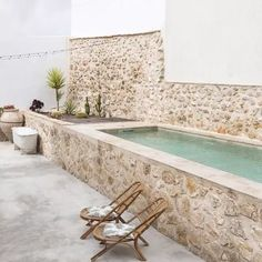 Backyard Pool Designs, Small Backyard Pools, Small Pools, Swimming Pools Backyard, Pool Landscaping, Above Ground Pool Decks, In Ground Pools, Outdoor Spaces, Outdoor Living
