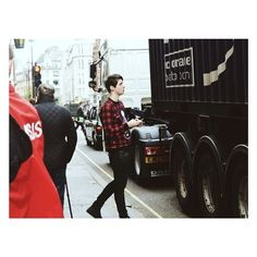 Dan Howell in plaid~~~More like stab me with a spork at this very moment