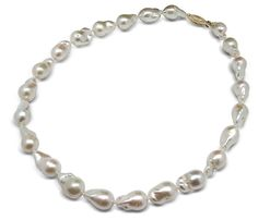11 x 12mm AAA White Baroque Pearl Necklace