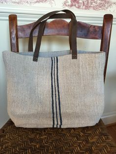 d94d1d95dc0c Found my new bag for school! | French grain sack tote by AnticaMarket on  Etsy
