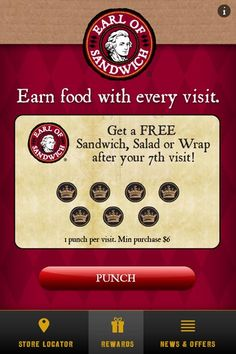 Earl of Sandwich drives customer loyalty with new rewards app