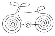 Bicycle border or filler Longarm Quilting, Free Motion Quilting, Hand Quilting, Single Line Drawing, Simple Artwork, Creative Textiles, Machine Quilting Designs, Simple Doodles, Christmas Drawing