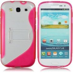"""Smart Stand """"S"""" Wave TPU Back Case Cover for Samsung Galaxy S3 I9300 - Pink by haojetso, http://www.amazon.com/dp/B0089VDLRG/ref=cm_sw_r_pi_dp_hBobqb1CAJ2HA"""