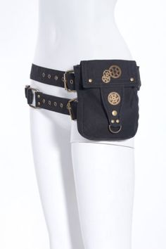RQ-BL-Steampunk-Hueft-Guertel-Tasche-Pocket-Belt-Punk-Pirate-Rave-WGT-Black-SP039