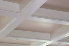 Coffered ceilings are just one of the many affordable upgrades made possible with Trim-Tex Drywall Products.