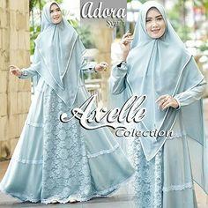 Image may contain: 2 people Hajib Fashion, Moslem Fashion, Abaya Fashion, Hijab Style Dress, Dress Brokat, Bridal Hijab, Abaya Designs, Hijab Fashion Inspiration, Muslim Dress