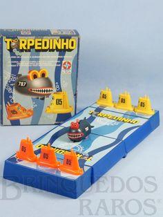 Brinquedo antigo Jogo Torpedinho completo Ano 1982