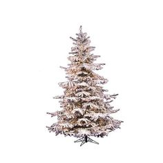 . ft. Pre-Lit White Flocked Sierra Fir Artificial Christmas Tree -... ($379) ❤ liked on Polyvore featuring home, home decor, holiday decorations, white, icicle ornaments, white home decor, outdoor holiday decor and outside home decor