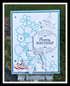 Created by Tracie St-Louis St Louis, Blossoms, Happy Birthday, Scrapbooking, Paper Crafts, Kit, Create, Cards, Happy Brithday