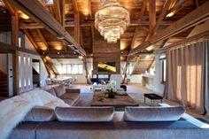 Rustikale Maisonette-Wohnung holz decke balken offen gestaltet-bo ...
