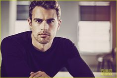 Theo James Is Smoldering in New Hugo Boss Photos (Exclusive Pics!) - his dark eyes he makes me love them