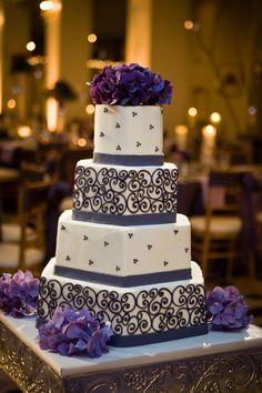 #Wedding Cakes Purple my FAVORITE :)