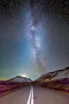 The clear skies in Iceland will make you remember why children love to look up at the stars. It is pure magic. Catch it on photos and make it last forever, like here with the Milky Way over Ring Road (Route 1) in Iceland.